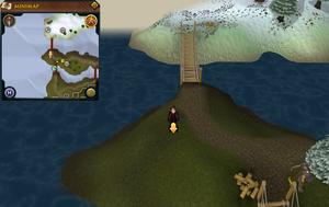Scan clue Fremennik Isles western tip of grassy island