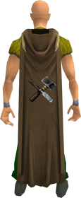 Hooded crafting cape equipped