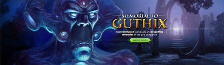 Memorial to Guthix head banner