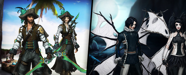 Privateer and Spider outfits update post header