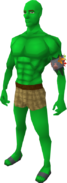 Green (Chameleon extract) skin equipped