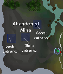 Abandoned Mine entrances locations