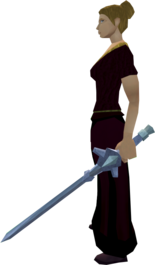 Off-hand gravite longsword equipped