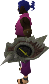 Sacred clay shield (melee) equipped