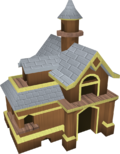 Mahogany pet house detail