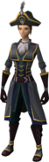 Western Captain's outfit equipped (female)