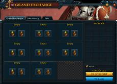 Grand Exchange interface