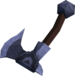Off-hand mithril throwing axe detail