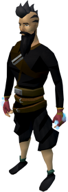 Spellcaster gloves (red) equipped
