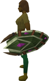Bryll shield equipped