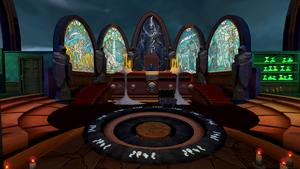 Death's office interior