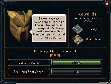 Vengeance reward