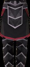 Black plateskirt detail
