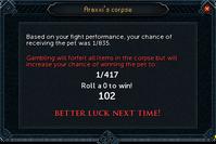 Pet chance failed