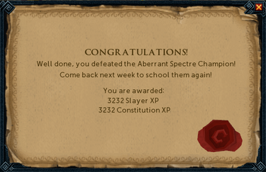 Aberrant Spectre Champion reward
