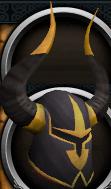 Elite black full helm chathead