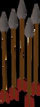 Iron arrow detail
