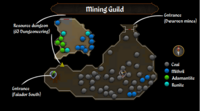 Mining Guild map
