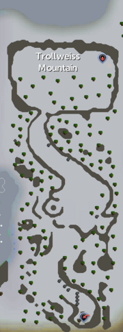 Trollweiss Mountain map