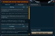 RuneScape Road Trip journal (2015) task list