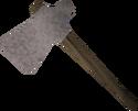 Rock hammer detail