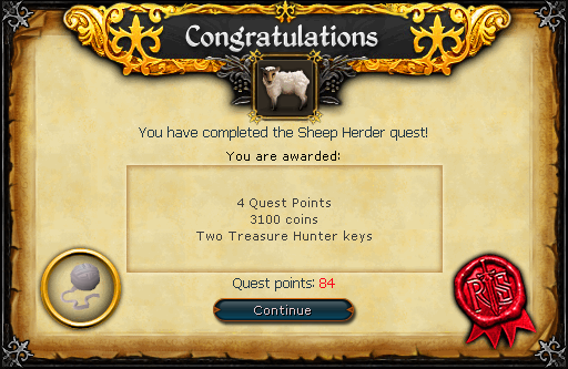 Sheep Herder reward
