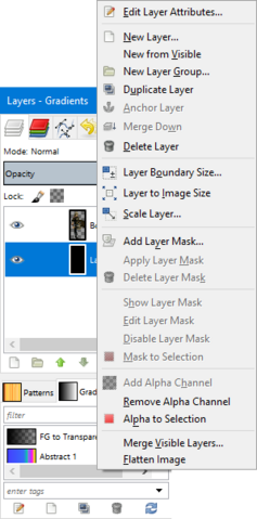 File:GIMP - layers window right-click.png