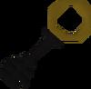 Black key brown detail