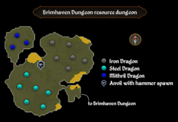 Brimhaven Dungeon resource dungeon map