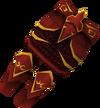 Dragon plateskirt (or) detail