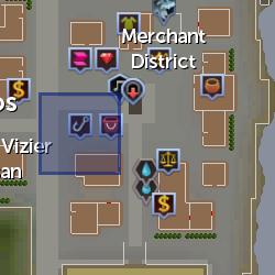 Fish trader location