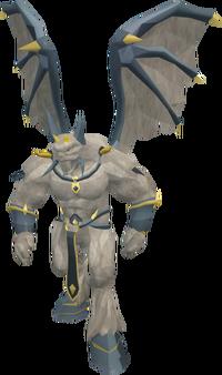 Grand demon statue