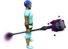 Staff of Sliske (shadow) equipped