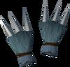 Werewolf claws (dark grey, female) detail