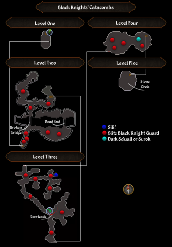 Black Knights' Catacombs map