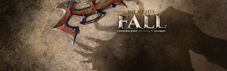 The Mighty Fall head banner