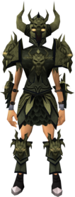 Malevolent armour set (barrows) equipped (female)