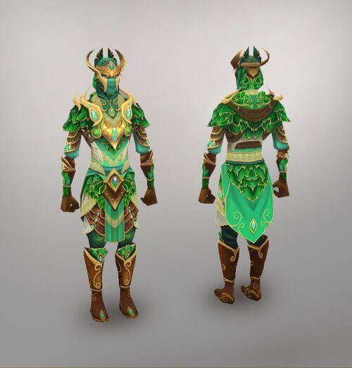 Elven city ranged warrior model art