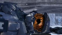 Epsilon looks at Tex's destroyed body