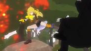 Yang shoots and kicks the ursa