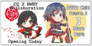 Illustration countdown of RWBY Chibi Season 2 03 and CQ x RWBY Collaboration released by Mojojoj