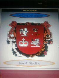 Royal Coat of Arms of Crown Prince Jake & Crown Princess Nicoline