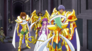 Athena and the Gold Saints