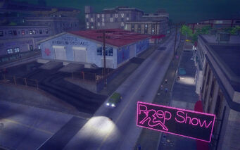 Poseidon Alley in Saints Row 2 - Peep Show