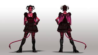 Jezebel Concept Art - dark concept front and back