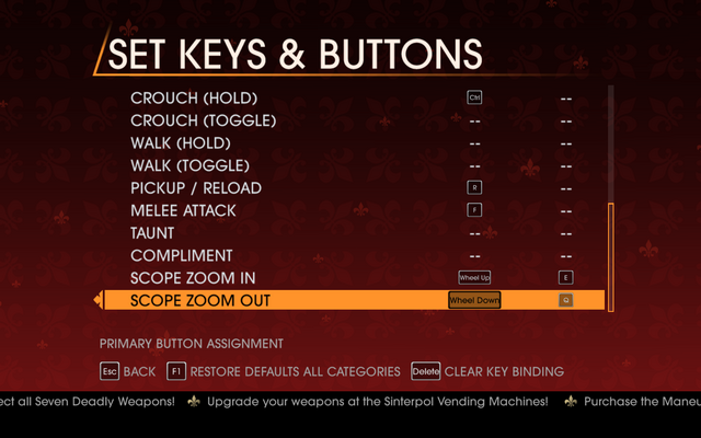 File:Saints Row Gat out of Hell - Main Menu - Options - Controls - Set Keys & Buttons - On Foot III.png