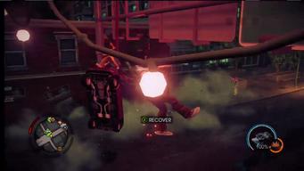 Genki using super powers on player
