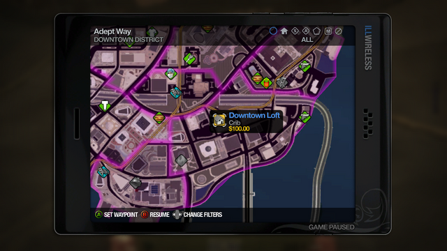 File:Taxi Service - choosing destination in Saints Row 2.png