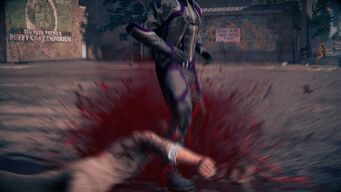 Combat in Saints Row IV - Super uppercut slam and stomp - end