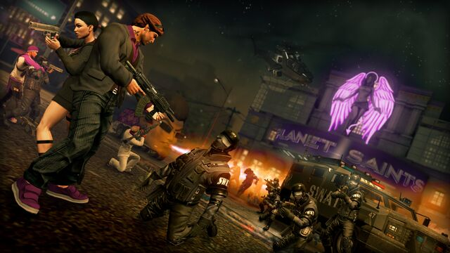 File:Planet Saints - Saints Row The Third promo with SWAT.jpg